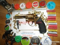 Револьвер стартовый, сигнальный Zoraki R1 Mod.K-6L (4,5) Позолоченный (999 проба)