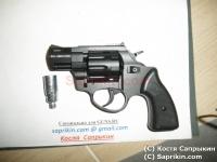 Револьвер стартовый, сигнальный Zoraki R1 Mod.K-6L (2,0) Черный. LOM-S.